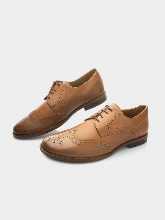 کفش کلاسیک مردانه 61410  MS2617    RV رنگ عسلی