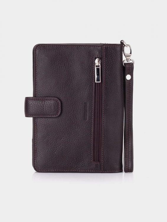 کیف پاسپورتی پترو WB3699 MT - رنگ قهوه ای نمای پشت