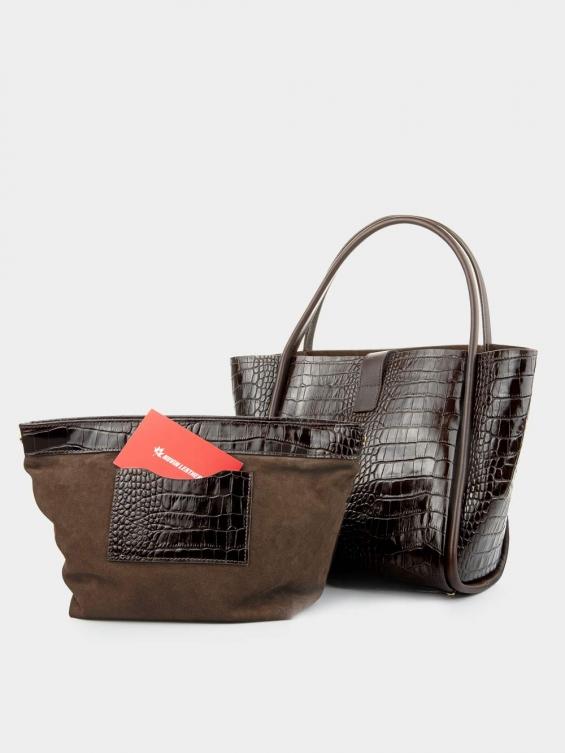 کیف دوشی زنانه دانیلا LHB4760 SHK  قهوه ای