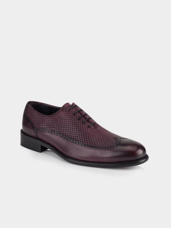کفش کلاسیک مردانه 2484 MS2643 RV رنگ زرشکی نمای بغل