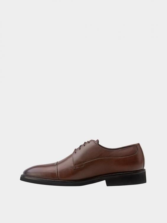 کفش کلاسیک مردانه 3937 MS2790 قهوه ای  چپ