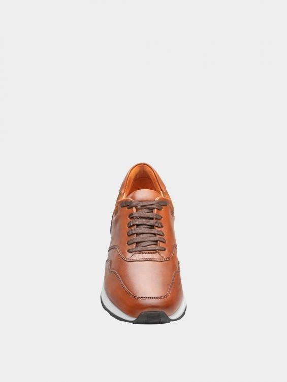 کفش اسپورت مردانه 40071 MS2686 عسلی نمای جلو