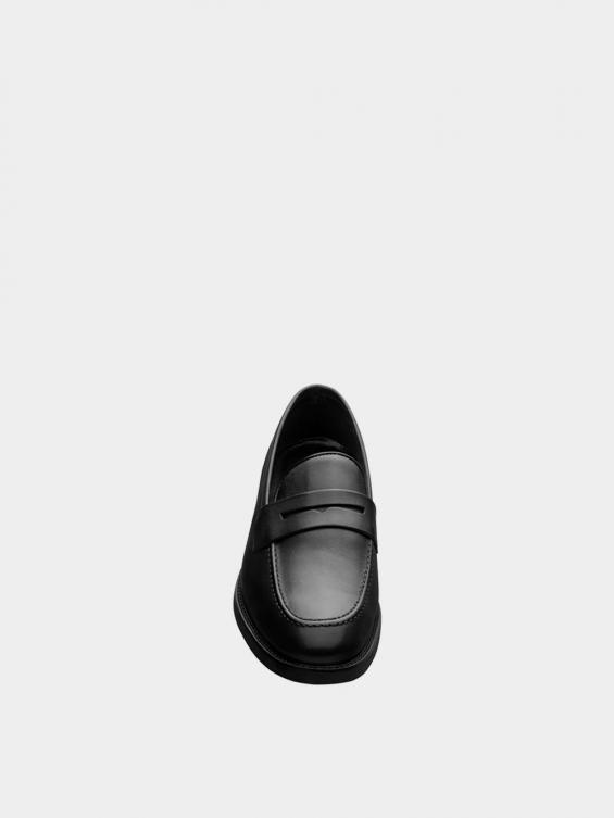 کفش کالج مردانه 3938  MS2791 مشکی نمای جلو