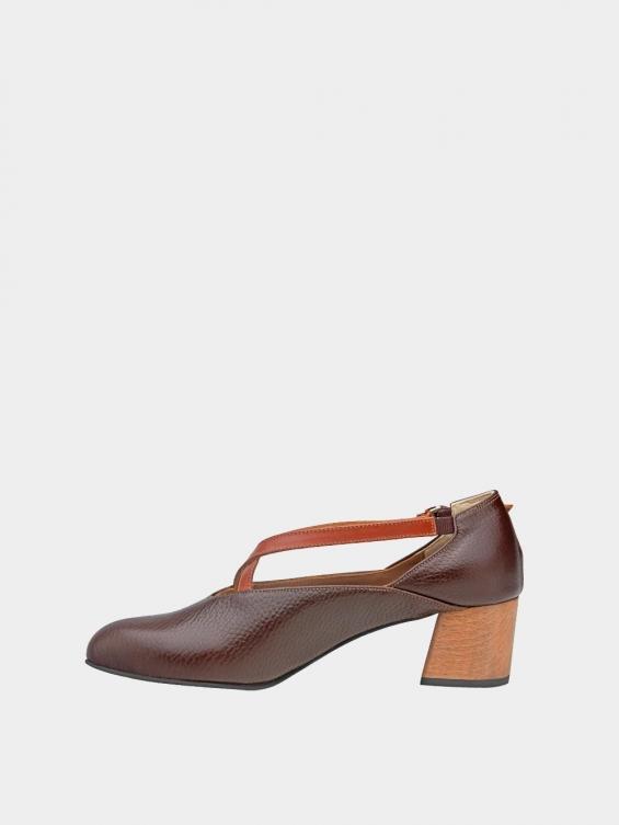 کفش مجلسی زنانه 1341 WS3186 قهوه ای چپ