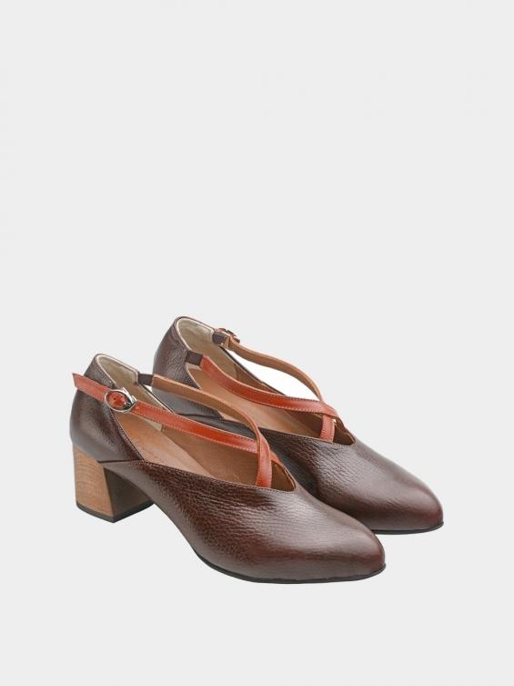 کفش مجلسی زنانه 1341 WS3186 قهوه ای جفت