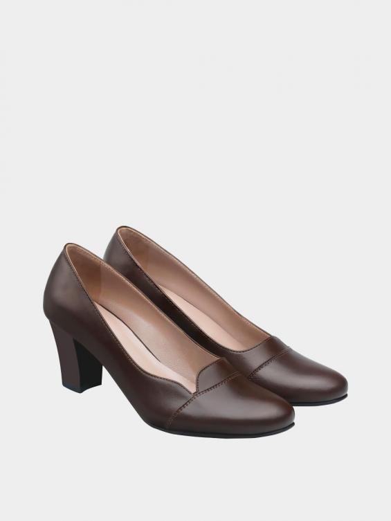 کفش مجلسی زنانه 9007 WS3110  قهوه ای جفت