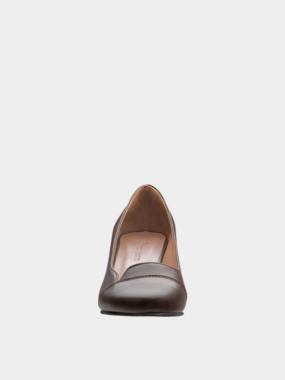 کفش مجلسی زنانه 9007 WS3110  قهوه ای نمای جلو