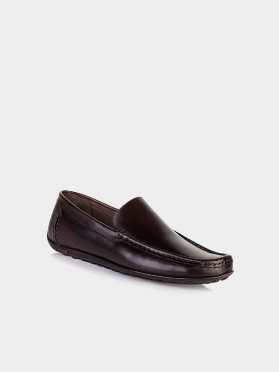 کفش کالج مردانه 2028 MS1929 MO رنگ قهوه ای نمای بغل