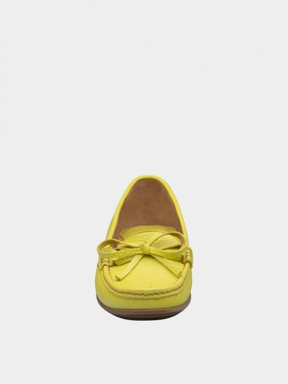 کفش کالج زنانه گیتا WS3057 زرد نمای جلو