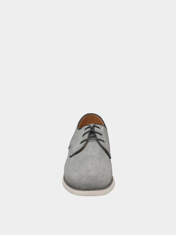 کفش اسپورت مردانه 1124 MS2777 طوسی نمای جلو