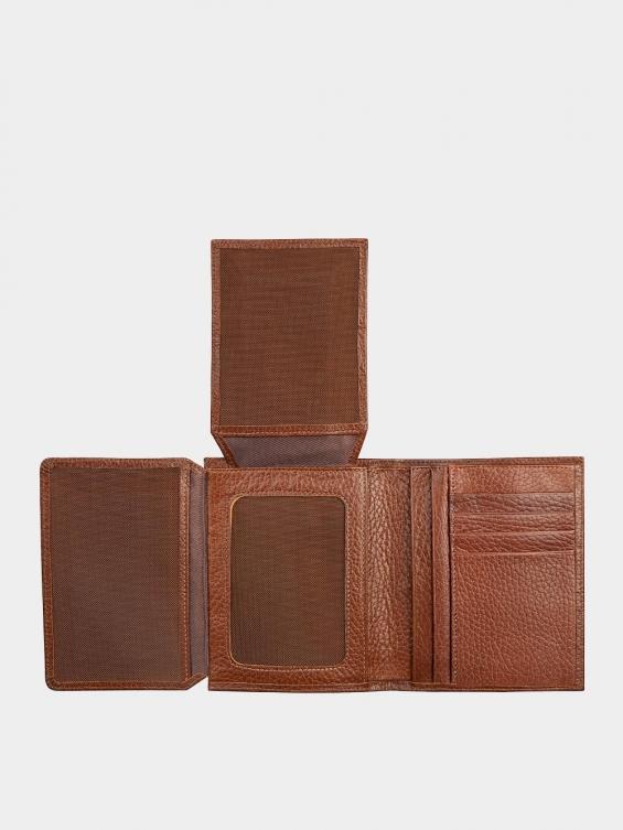 کیف جیبی سه آلبوم اسرار PE2529 عسلی نمای داخل