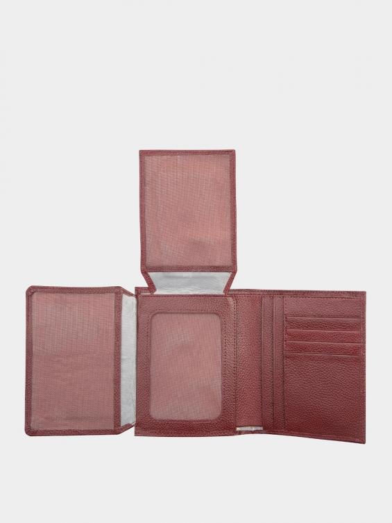 کیف جیبی سه آلبوم اسرار PE2529 زرشکی نمای داخل