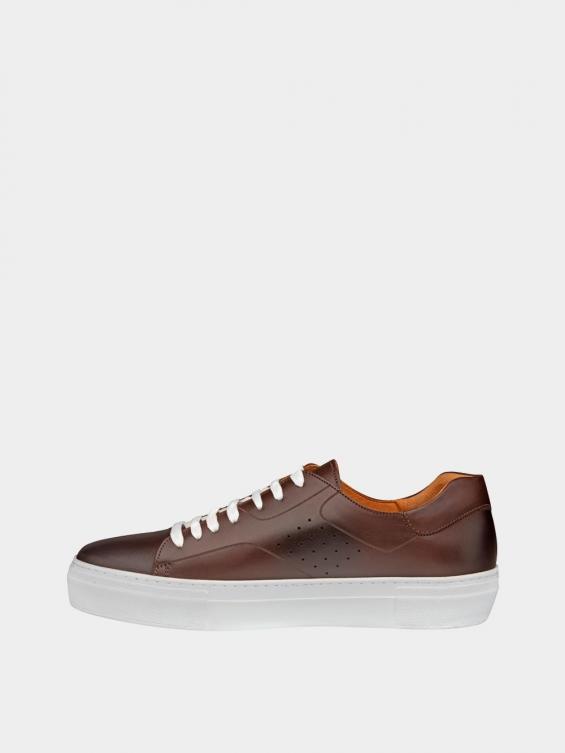 کفش اسپورت مردانه 6014 MS2514 قهوه ای چپ