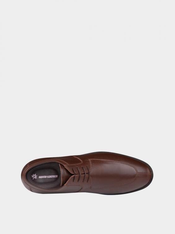 کفش کلاسیک مردانه بندی 1018 MS2506  عسلی داخل