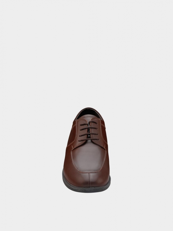 کفش کلاسیک مردانه بندی 1018 MS2506  عسلی نمای جلو