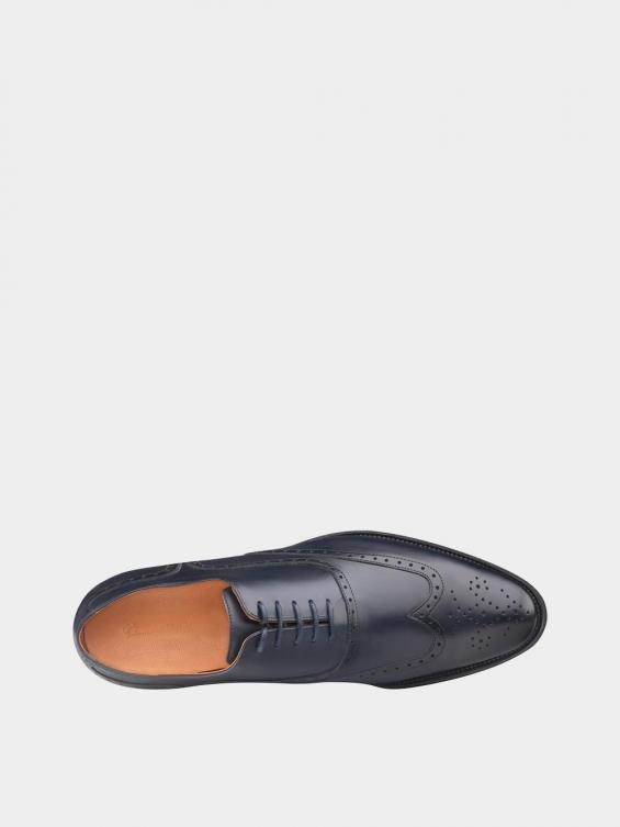 کفش  کلاسیک مردانه 6041   MS2511 سرمه ای نمای داخل