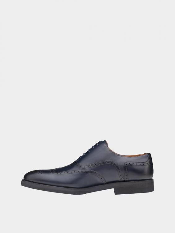 کفش  کلاسیک مردانه 6041   MS2511 سرمه ای چپ