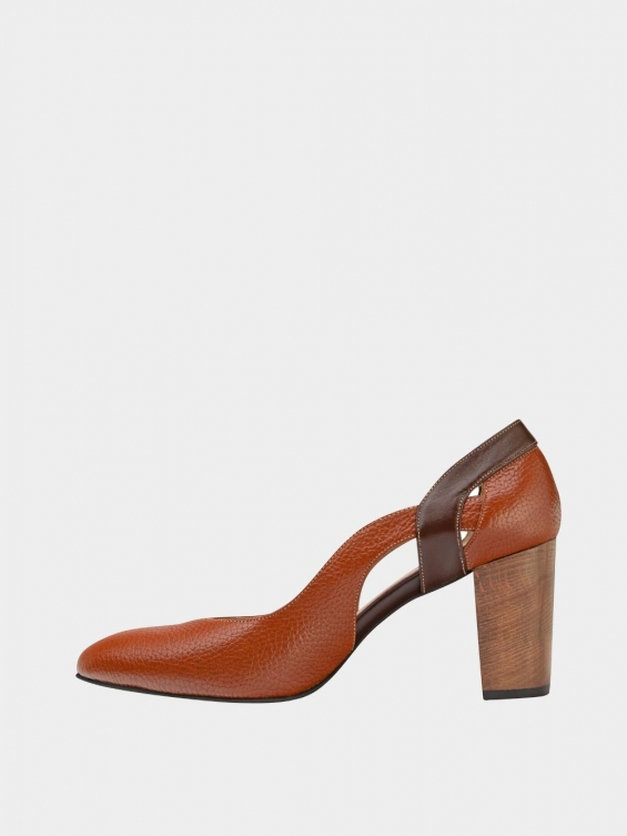 کفش مجلسی زنانه 1346 WS3218 عسلی چپ
