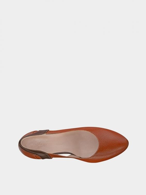کفش مجلسی زنانه 1346 WS3218 عسلی داخل