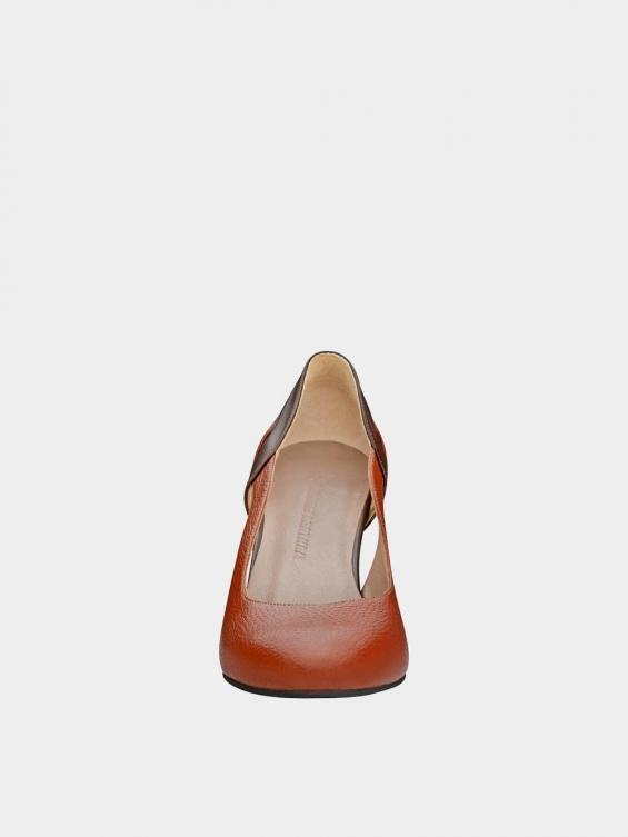 کفش مجلسی زنانه 1346 WS3218 عسلی نمای جلو