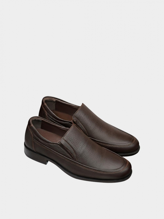 کفش کلاسیک مردانه 2101 MS2242 قهوه ای نمای جفت
