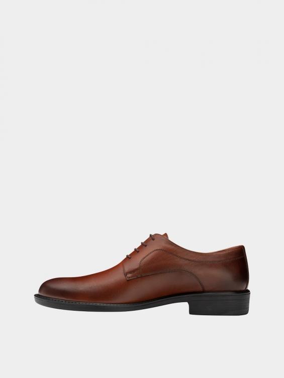 کفش کلاسیک مردانه MS2344 777 عسلی نمای چپ