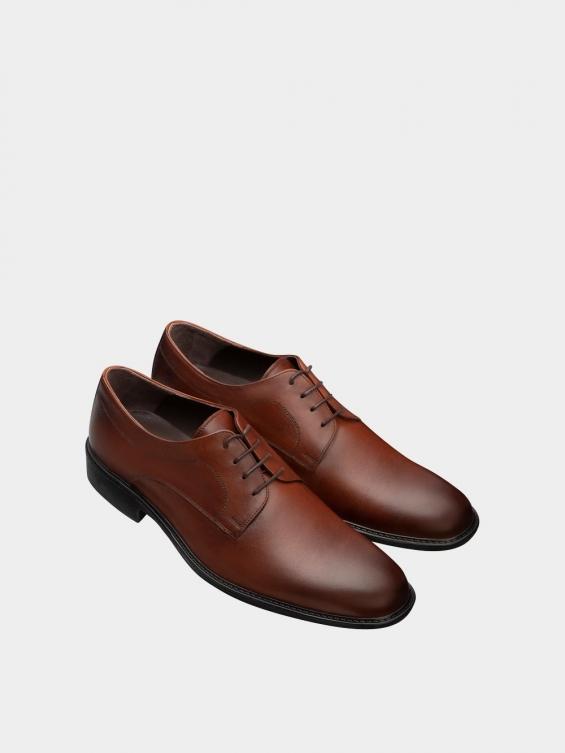 کفش کلاسیک مردانه MS2344 777 عسلی نمای جفت