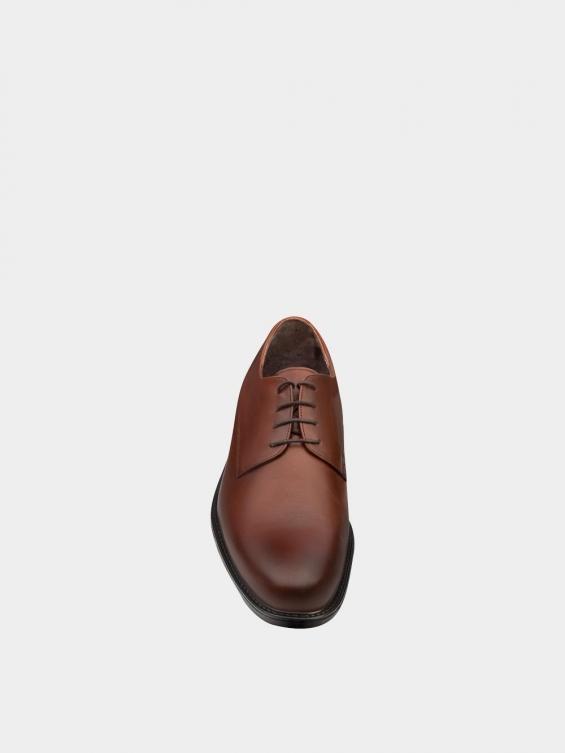 کفش کلاسیک مردانه MS2344 777 عسلی نمای جلو