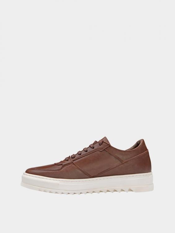 کفش اسپورت مردانه 7014 MS2520 قهوه ای چپ
