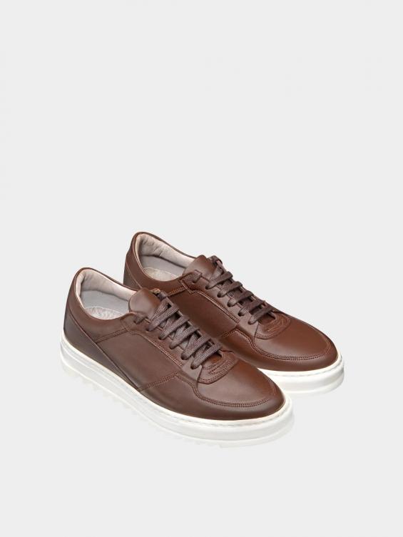 کفش اسپورت مردانه 7014 MS2520 قهوه ای نمای جفت