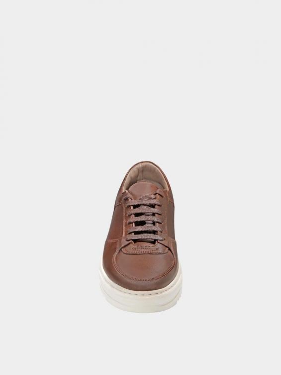 کفش اسپورت مردانه 7014 MS2520 قهوه ای نمای جلو
