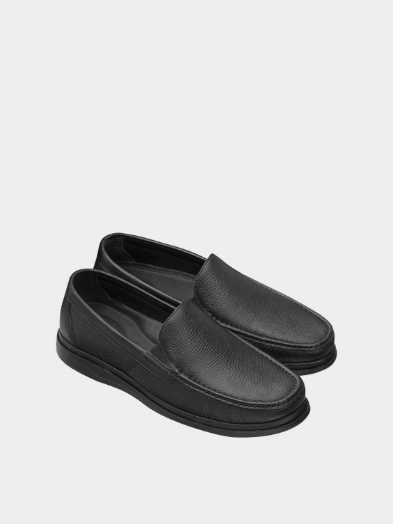 کفش کالج مردانه 6220 MS2773 مشکی نمای جفت