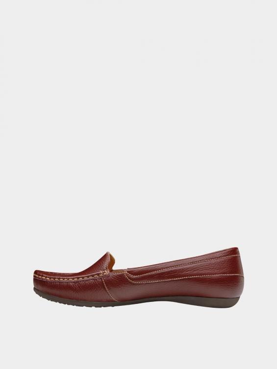 کفش کالج زنانه درنا WS2805 زرشکی نمای چپ
