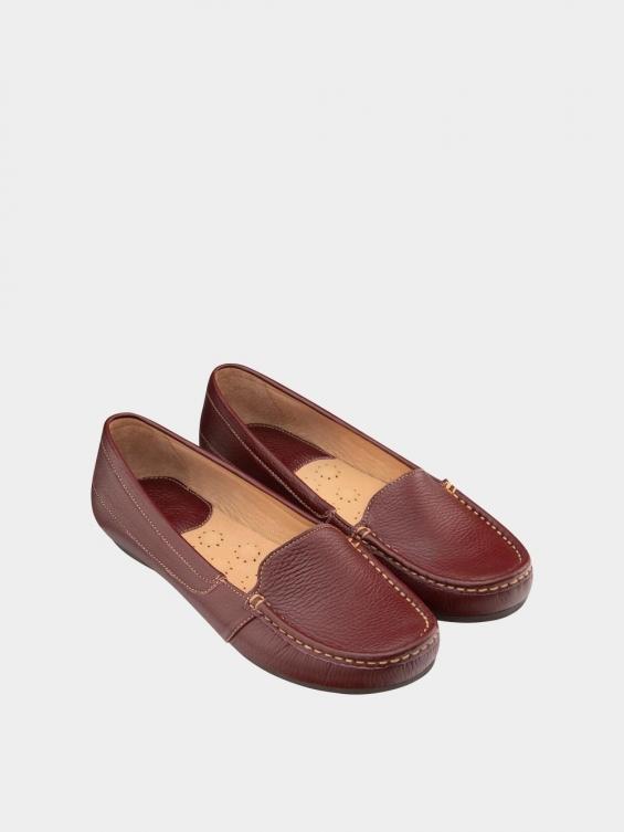 کفش کالج زنانه درنا WS2805 زرشکی نمای جفت