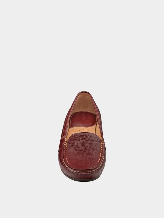 کفش کالج زنانه درنا WS2805 زرشکی نمای جلو