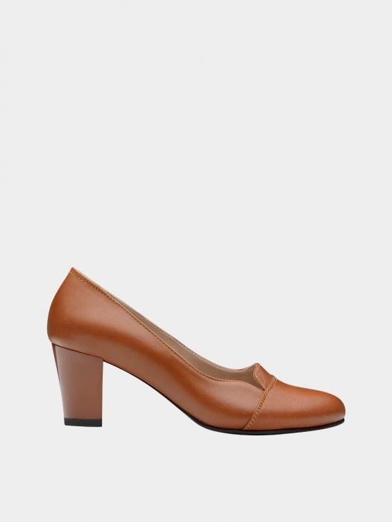 کفش مجلسی زنانه 9007 WS3110 عسلی راست