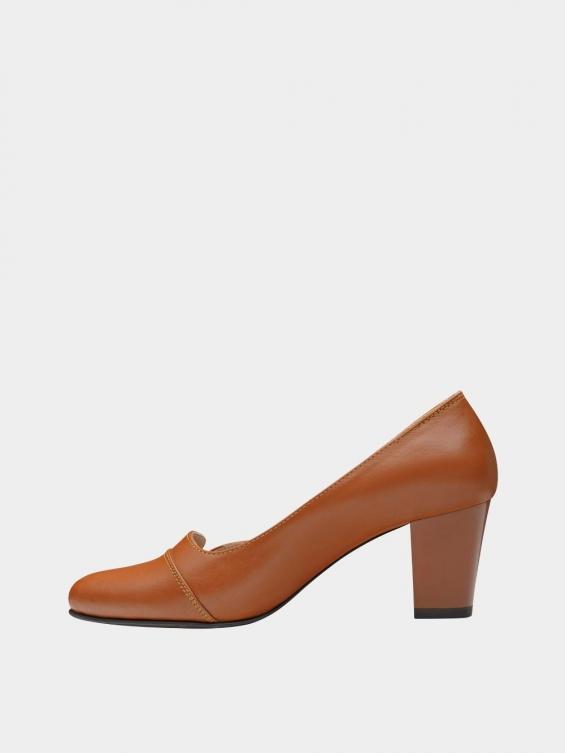 کفش مجلسی زنانه 9007 WS3110 عسلی چپ