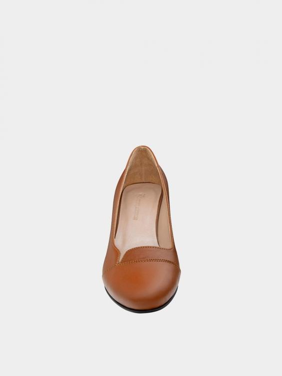 کفش مجلسی زنانه 9007 WS3110 عسلی نمای جلو