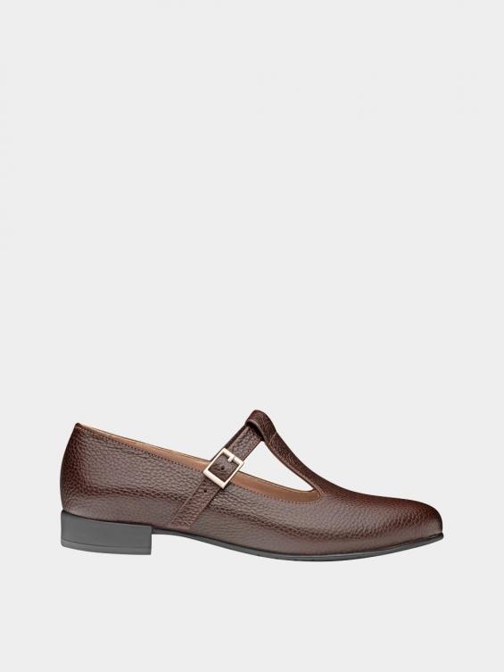 کفش کلاسیک زنانه 1003 WS2991 قهوه ای راست
