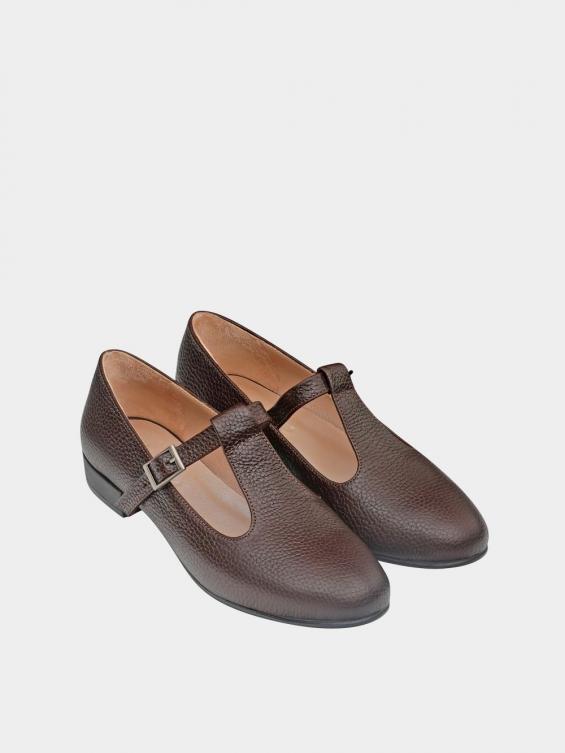 کفش کلاسیک زنانه 1003 WS2991 قهوه ای نمای جفت