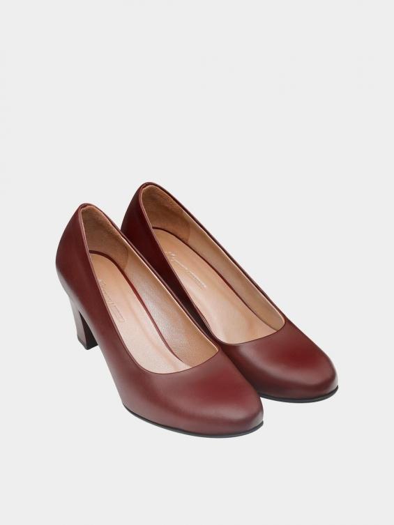 کفش مجلسی زنانه 700 WS3014 زرشکی نمای جفت