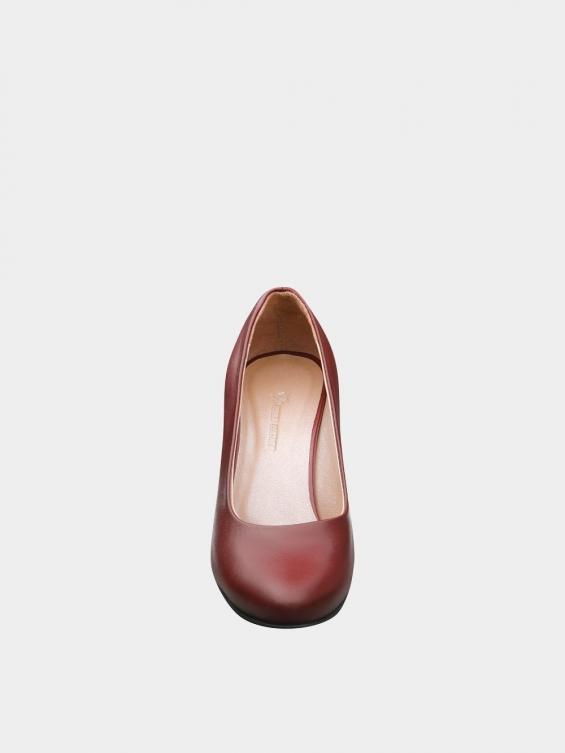 کفش مجلسی زنانه 700 WS3014 زرشکی نمای جلو
