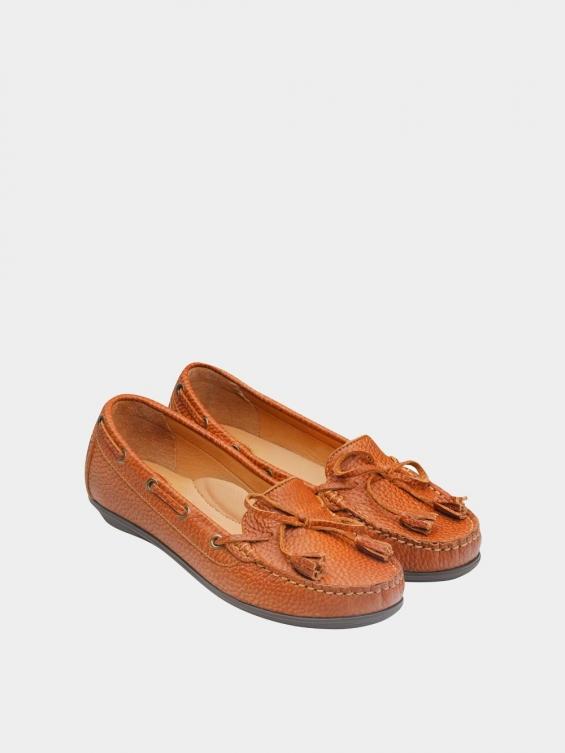 کفش کالج زنانه تینا WS3234 عسلی نمای جفت