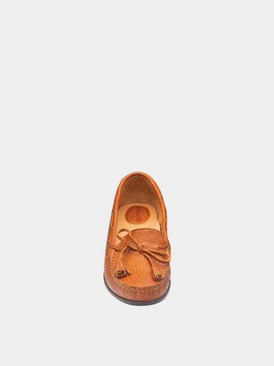 کفش کالج زنانه تینا WS3234 عسلی نمای جلو