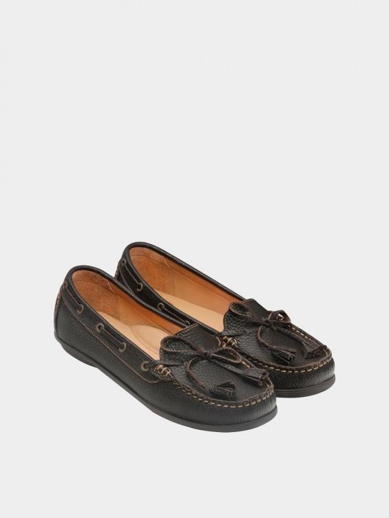 کفش کالج زنانه تینا WS3234 قهوه ای نمای جفت
