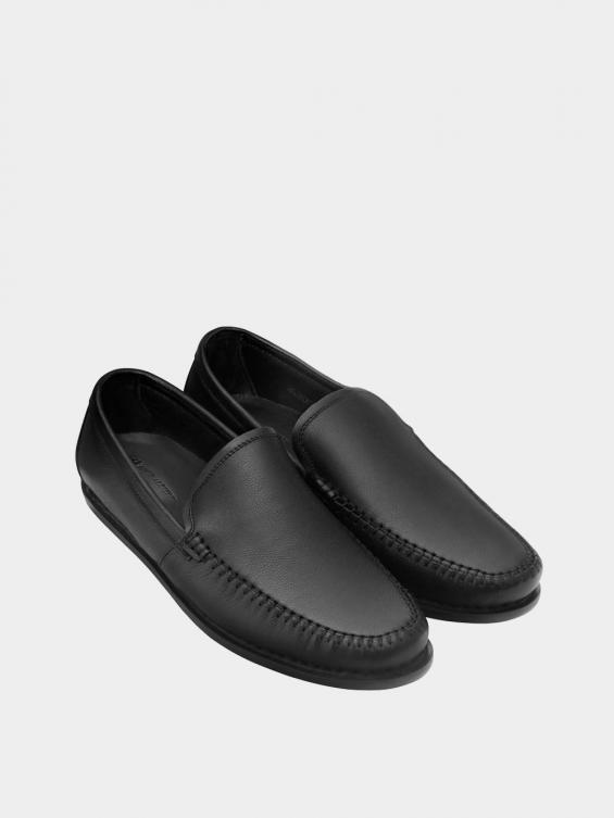 کفش کالج مردانه 1421 MS2817 مشکی  نمای جفت