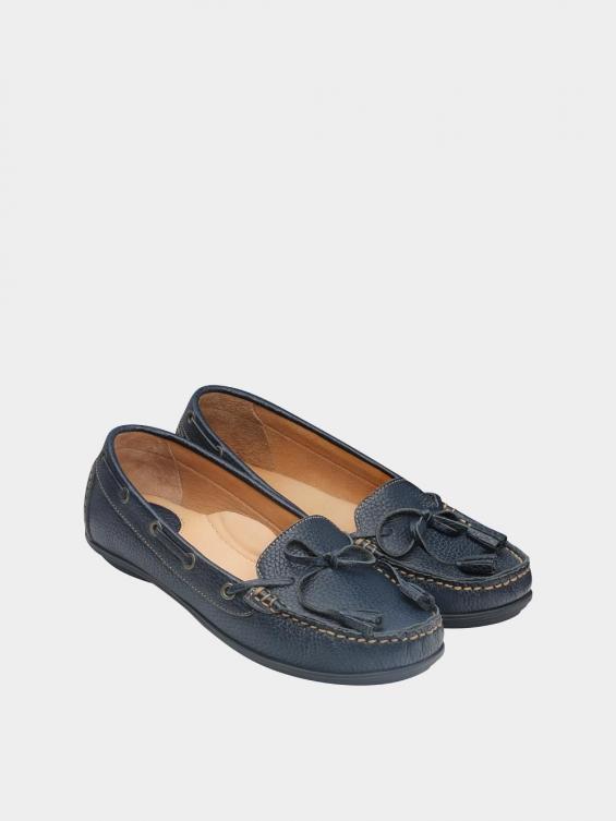 کفش کالج زنانه تینا WS3234 سرمه ای نمای جفت