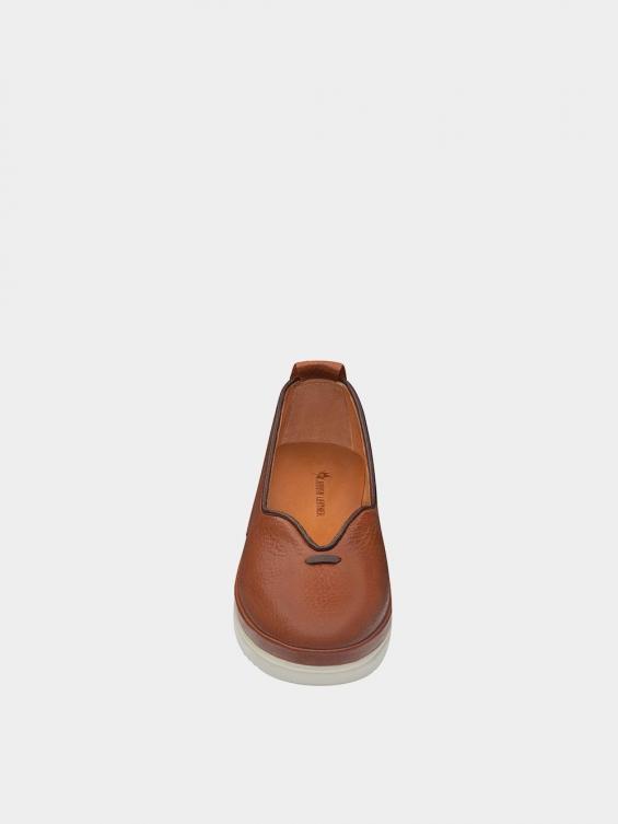 کفش اسپورت زنانه 5503 WS3121 عسلی نمای جلو