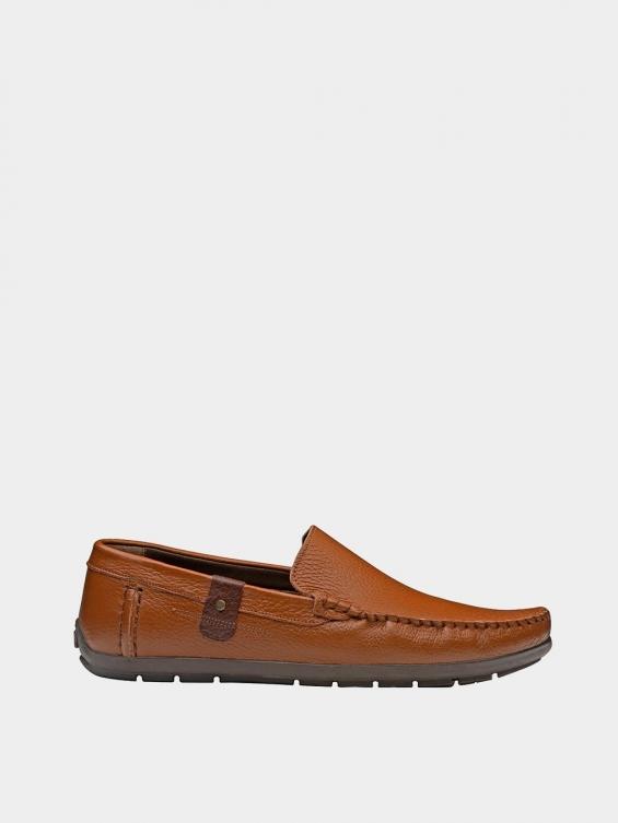 کفش کالج مردانه MS1932 2026 عسلی راست