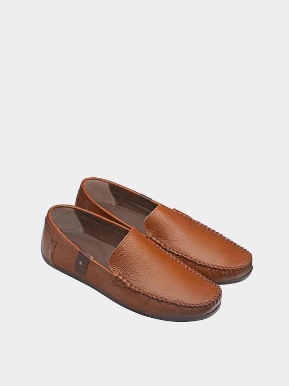 کفش کالج مردانه MS1932 2026 عسلی نمای جفت